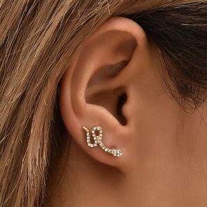 🐍 Snake rhinestone ear runners 🐍
